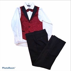 KidsWorldofUSA pant suit with vest & bow tie